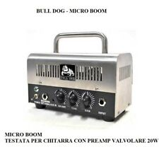TESTATA PER CHITARRA CON PREAMP VALVOLARE 20W BULL DOG MODELLO MICRO BOOM