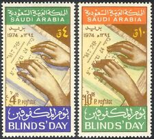 Arabia Saudita 1975 Ciego/médico/salud/Braille/libros/manos/Lectura 2 V Set n43554