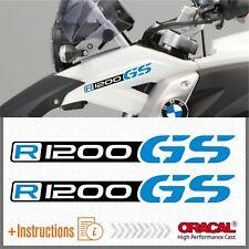 2x R1200GS Black/LightBlue BMW ADESIVI R1200 GS PEGATINA STICKERS AUTOCOLLANT