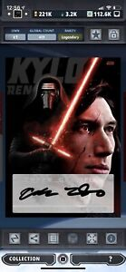 kylo ren signature legendary digital star wars card