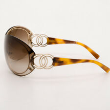 efdead935f CHANEL 4144 Women s Sunglasses Gold Tone Logo and Brown Trim