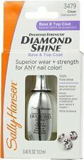 Sally Hansen Diamond Shine Base & Top Coat #3479 Transparent Clear (2 Pack)
