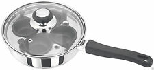 Judge Stainless Steel Glass Lid 4 Non Stick Cup Egg Poacher PP297