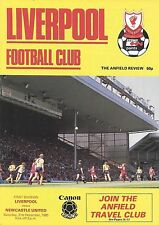 Football Programme>LIVERPOOL v NEWCASTLE UNITED Dec 1985
