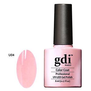 GDI NAILS - U04 BABY PINK - SUBTLE NUDE - UV LED GEL NAIL POLISH VARNISH