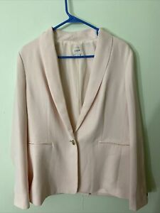 J Crew Mercantile One Button Blazer Pink Size 12