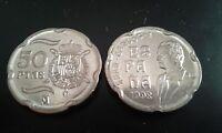 MONEDA 50 PESETAS JUAN CARLOS I 1998 SC DE BOLSA.PTAS