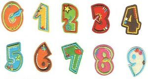 0-9 Number Patches Embroidered Iron On Patch Diy Crafts