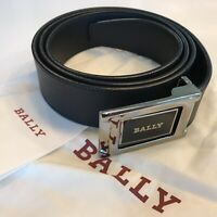 450$ Bally Men's Black/Brown Reversible Leather Belt Fit All Sizes Made in Italy