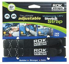 Motorcycle Rok Straps Heavy Duty Stretch Strap (ROK10050) 60In Black/Reflect