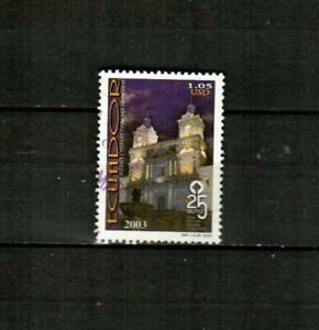 ECUADOR Scott's 1690 ( 1v ) World Heritage F/VF Used ( 2003 )