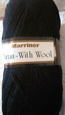 MARRINER YARNS ARAN WITH WOOL 400g (ACRYLIC AND WOOL BLEND) Black