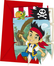 6 Jake And The Never Land Pirates Party Invitations Invites plus Envelopes