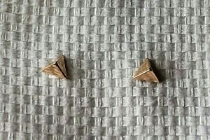 14K Rose Gold 3-Sided Pyramid Earrings~EUC