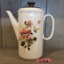 1960's/70's Barker Bros Royal Amber Rose Pattern Tall Tea Coffee Pot