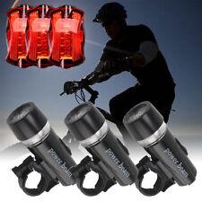 3 LED Fahrradbeleuchtung Fahrrad Licht Fahrradlampe Rücklicht Lampenset Schwarz
