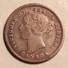 1886  Canada Victoria  Ten 10 Cents - Large Knob 6