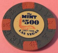 THE MINT ~ $500 CASINO CHIP ~ BORLAND COMMEMORATIVE ~ LAS VEGAS, NEVADA ~1992