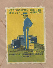 Reklamemarke auf Brief 1925 NORDDEUTSCHER LLOYD BREMEN, Ludwig Hohlwein (#35839)