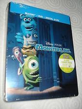 MONSTERS INC STEELBOOK BLU-RAY METAL TIN STEELBOOK LIMITED OOP RARE NEW SEALED