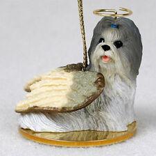 Shih Tzu Dog Figurine Angel Statue Hand Painted Mixed