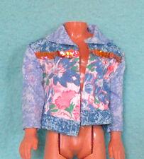 Ken Jacket in Acid Wash Blue Chambrey Look with Sequins