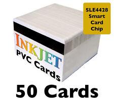 50 Inkjet PVC Cards w/ SLE4428 Chip & Mag Stripe - For Epson & Canon Printers