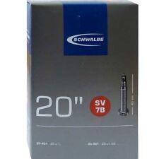 Schwalbe SV 7b Chambre à air vélo 20″ exécution : 20x7 / 8-1.00″ 23/25-451 40mm