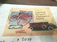 Old Cars Weekly 1986 Calendar 100 Years Automotive History, Benz,MG,(#2024)