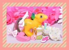❤️My Little Pony MLP G1 Vintage 1987 Baby Tic Tac Toe First Tooth Accessories❤️
