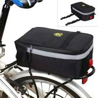 Bicycle Cycling Rear Rack Bag Pannier MTB Road Bike Trunk Pack Shoulder Bag 12L