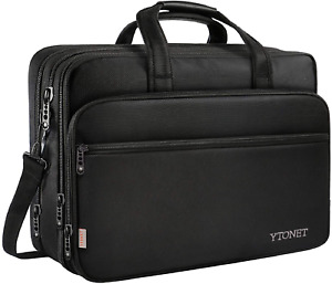 """17"""" Laptop Bag Travel Briefcase Organizer Water Resistant for Computer Tablet"""