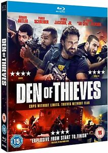 DEN OF THIEVES - Gerard Butler  (+ SLIP COVER) - NEW & SEALED BLU-RAY  2