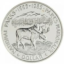 1985 Canadian Silver Dollar ~ National Parks, Moose ~ Specimen Condition!Coin!