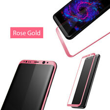 Full Screen Cover Samsung Galaxy S8 Tempered Glass Screen Protector 3D Rose Gold