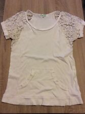 Chord (Kohl's) Light Beige Lace Short Sleeve Simple Top*S*