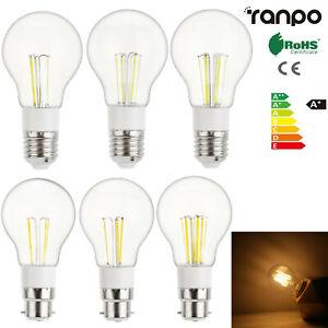 Vintage A55 LED Edison Bulb E27 B22 3W - 6W Retro Decoration Light Lamp 12V 230V