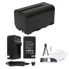 NP-F750 Battery + Charger + BONUS for Sony HDR-FX1000 AX2000 HVR-Z1U Z7U HXR-NX5