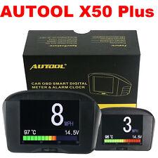AUTOOL X50 Plus Car OBD HUD Head Up Display Smart Digital Meter Alarm Gauge