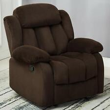 Manual Recliner Chair Living Room Lounge Oversized Chair Reclining Sofa Brown