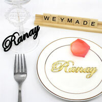 Personalized Laser Cut Guest Names Wedding Table Decor Place Name Cards Settings