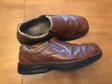 Merrell World Passport Redwood Mens Size 9.5 Leather Slip On Shoes