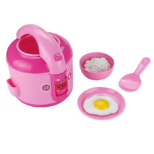 Pretend Play LED Music Electric Rice Cooker Cooking Set Kitchen Educational Toys