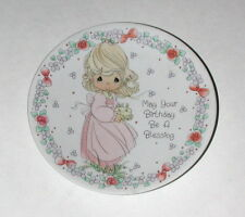Precious Moments Plate May Your Birthday Be A Blessing 1992