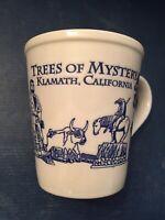 KLAMATH CALIFORNIA - TREES OF MYSTERY - COFFEE MUG CUP - ROYAL BLUE INSIDE