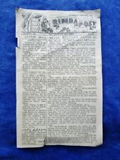 1945 RIMBA POST Biak Island, New Guinea Campaign WWII Army Base H Camp Newspaper