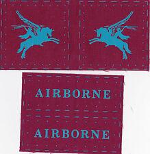 ww2 100% cotton British  Airborne printed Pegasus patch  repro