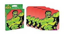 Incredible Hulk set of 4 neoprene drinks coasters   (nm) REDUCED TO CLEAR!