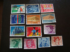 SUISSE - timbre - yt n° 828 a 833 838 839 841 a 845 obl (A8) stamp switzerland