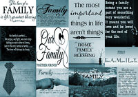 Duck Egg Blue Family Quotes Canvas Wall Art Picture - A1, A2, A0 sizes